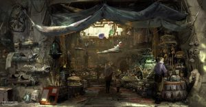 Galaxy's Edge Marketplace Concept Art